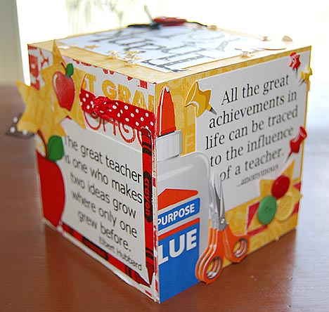 Teacher cube back