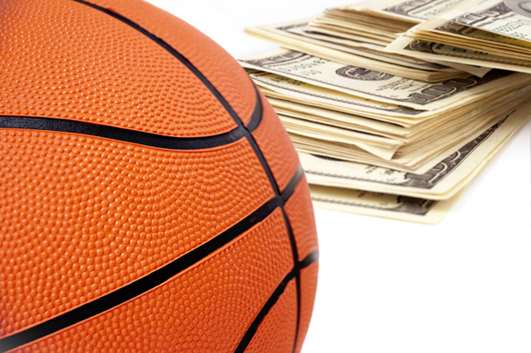Baskebtall with money 2