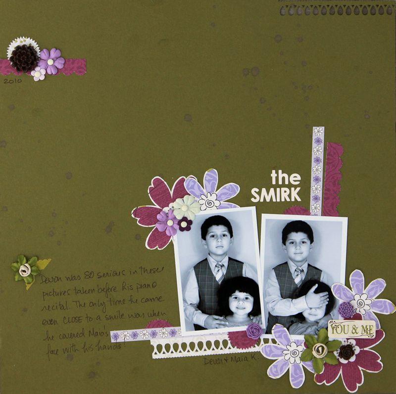In bloom scrapbook layout siblings