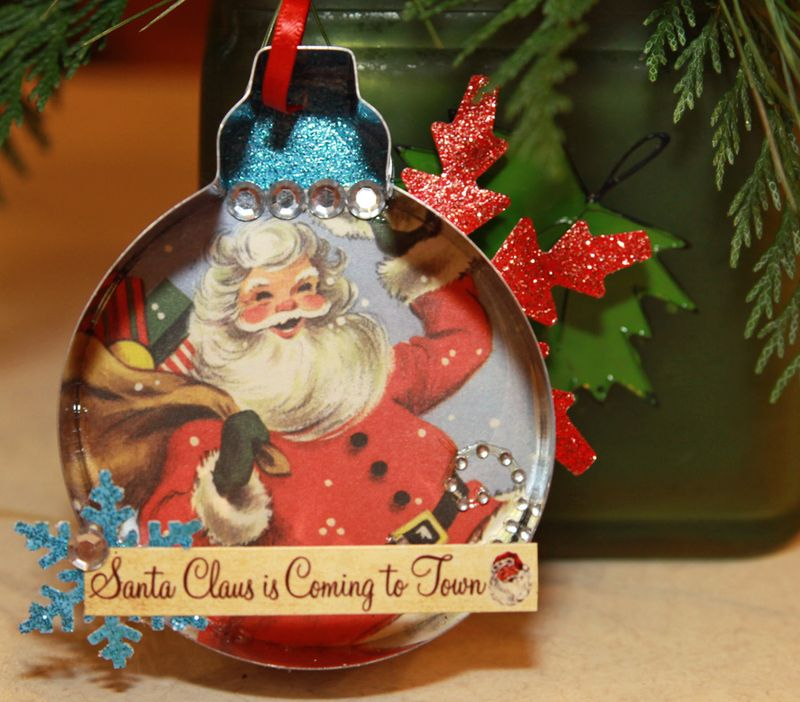 Dear santa christmas ornament 1