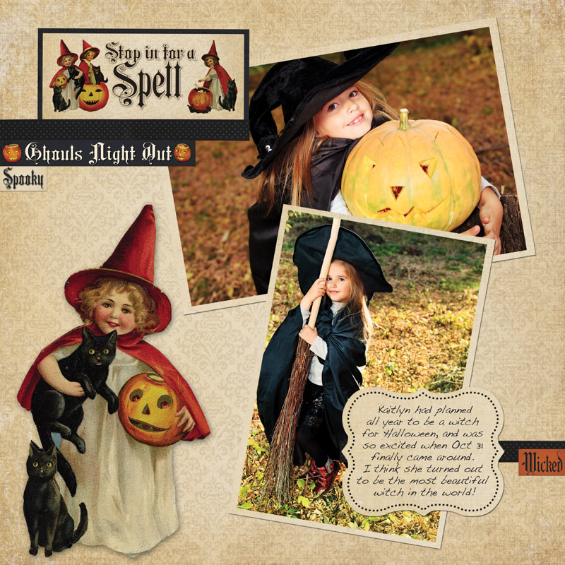 Hallowe'en Layout 800