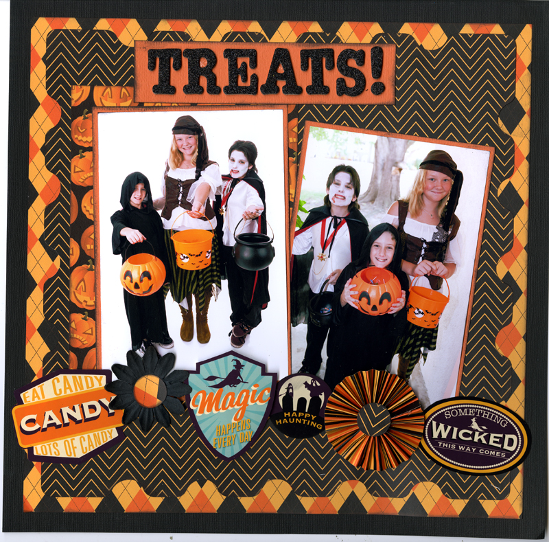 The Halloween Collection 12x12 Layout 800
